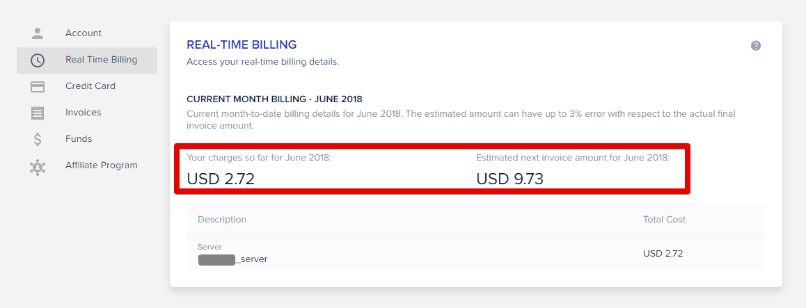 Real-time billing due to Pay As You Go infrastructure.